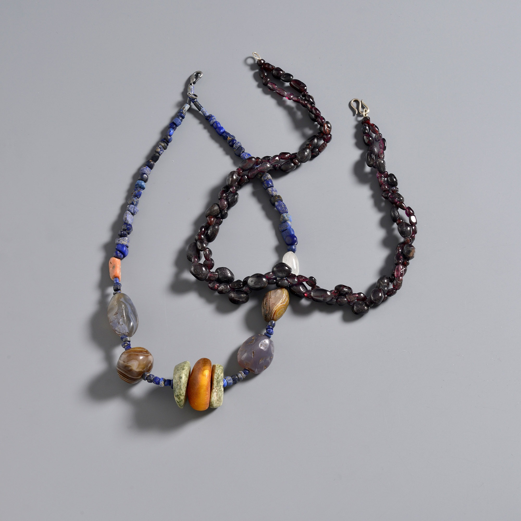 Mixed beads and garnets.