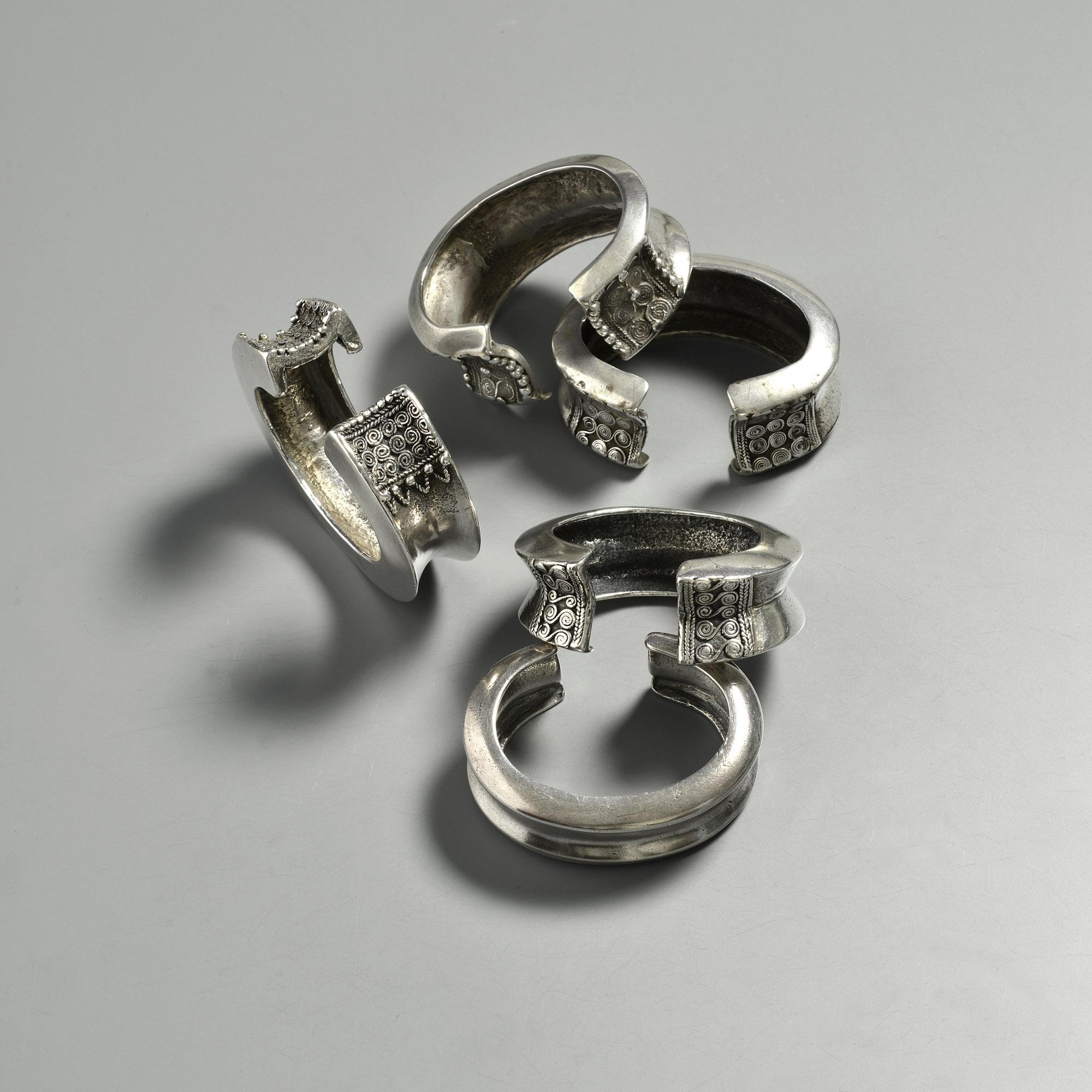 West Timor Bracelets. Silver.
